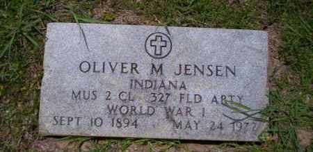 JENSON  (VETERAN WWI), OLIVER M - Union County, Arkansas | OLIVER M JENSON  (VETERAN WWI) - Arkansas Gravestone Photos