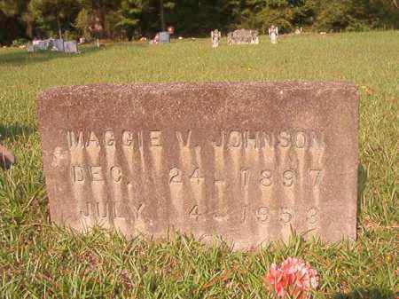 JOHNSON, MAGGIE V - Union County, Arkansas   MAGGIE V JOHNSON - Arkansas Gravestone Photos
