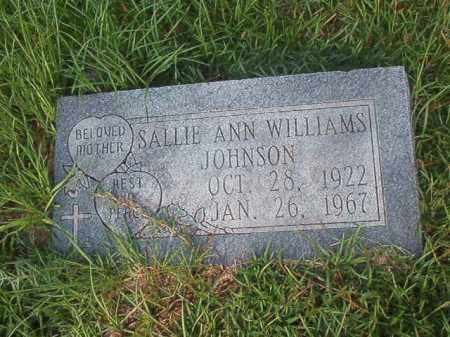 JOHNSON, SALLIE ANN - Union County, Arkansas | SALLIE ANN JOHNSON - Arkansas Gravestone Photos