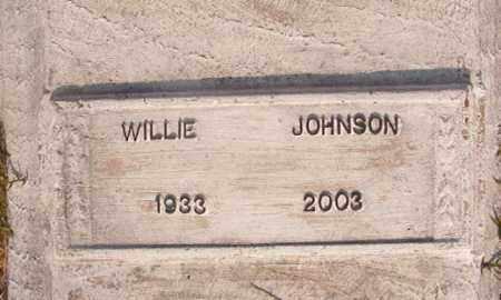 JOHNSON, WILLIE - Union County, Arkansas | WILLIE JOHNSON - Arkansas Gravestone Photos