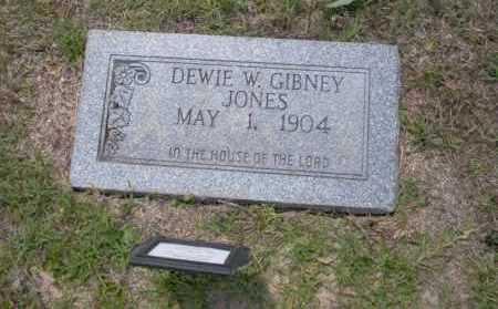 GIBNEY JONES, DEWIE W - Union County, Arkansas | DEWIE W GIBNEY JONES - Arkansas Gravestone Photos