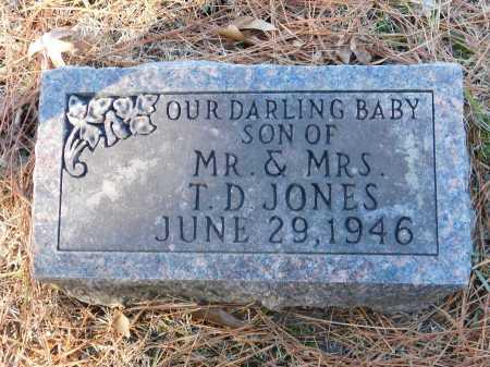 JONES, INFANT SON - Union County, Arkansas   INFANT SON JONES - Arkansas Gravestone Photos