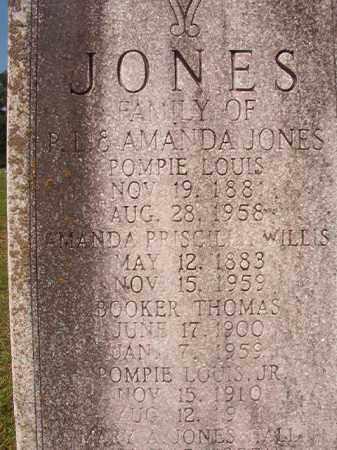JONES, AMANDA PRISCILLA - Union County, Arkansas | AMANDA PRISCILLA JONES - Arkansas Gravestone Photos