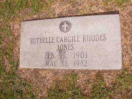 CARGILE RHODES JONES, RUTHELLE - Union County, Arkansas | RUTHELLE CARGILE RHODES JONES - Arkansas Gravestone Photos