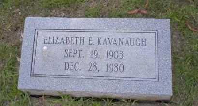 KAVANAUGH, ELIZABETH E - Union County, Arkansas | ELIZABETH E KAVANAUGH - Arkansas Gravestone Photos