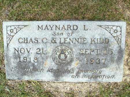 KIDD, MAYNARD L - Union County, Arkansas | MAYNARD L KIDD - Arkansas Gravestone Photos
