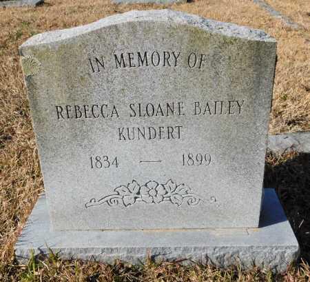 KUNDERT, REBECCA SLOANE - Union County, Arkansas | REBECCA SLOANE KUNDERT - Arkansas Gravestone Photos