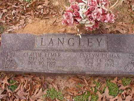 LANGLEY, CLAUDE ELMER - Union County, Arkansas | CLAUDE ELMER LANGLEY - Arkansas Gravestone Photos
