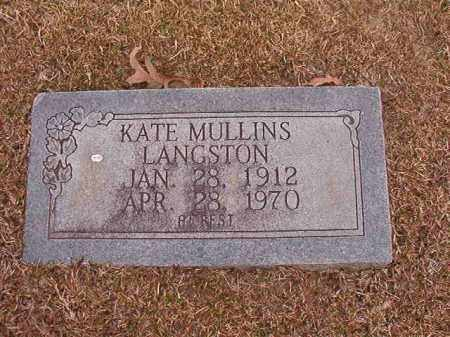 LANGSTON, KATE - Union County, Arkansas | KATE LANGSTON - Arkansas Gravestone Photos