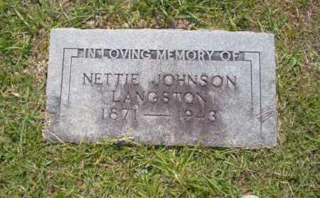 JOHNSON LANGSTON, NETTIE - Union County, Arkansas | NETTIE JOHNSON LANGSTON - Arkansas Gravestone Photos