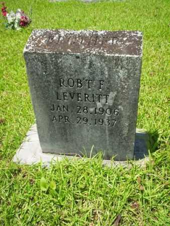 LEVERITT, ROBERT F - Union County, Arkansas   ROBERT F LEVERITT - Arkansas Gravestone Photos