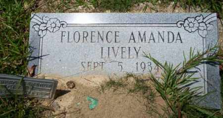 LIVELY, FLORENCE AMANDA - Union County, Arkansas | FLORENCE AMANDA LIVELY - Arkansas Gravestone Photos