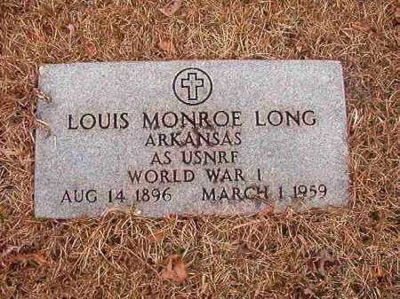 LONG (VETERAN WWI), LOUIS MONROE - Union County, Arkansas | LOUIS MONROE LONG (VETERAN WWI) - Arkansas Gravestone Photos