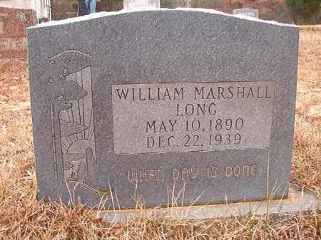 LONG, WILLIAM MARSHALL - Union County, Arkansas   WILLIAM MARSHALL LONG - Arkansas Gravestone Photos