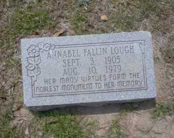 FALLIN LOUGH, ANNABEL - Union County, Arkansas | ANNABEL FALLIN LOUGH - Arkansas Gravestone Photos