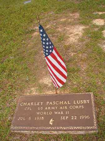 LUSBY  (VETERAN WWII), CHARLEY PASCHAL - Union County, Arkansas | CHARLEY PASCHAL LUSBY  (VETERAN WWII) - Arkansas Gravestone Photos
