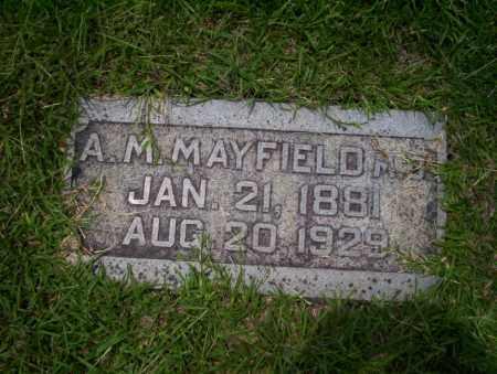 MAYFIELD, A.M. - Union County, Arkansas | A.M. MAYFIELD - Arkansas Gravestone Photos
