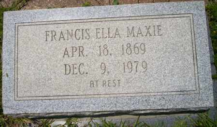 MAXIE, FRANCIS ELLA - Union County, Arkansas | FRANCIS ELLA MAXIE - Arkansas Gravestone Photos