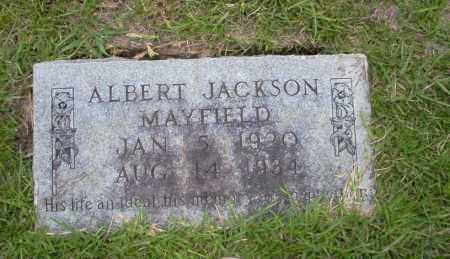 MAYFIELD, ALBERT JACKSON - Union County, Arkansas   ALBERT JACKSON MAYFIELD - Arkansas Gravestone Photos