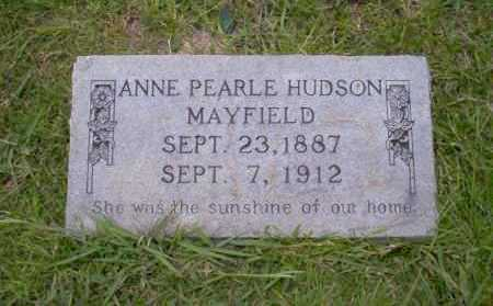 HUDSON MAYFIELD, ANNE PEARLE - Union County, Arkansas | ANNE PEARLE HUDSON MAYFIELD - Arkansas Gravestone Photos