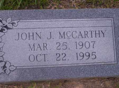 MCCARTHY, JOHN J - Union County, Arkansas | JOHN J MCCARTHY - Arkansas Gravestone Photos