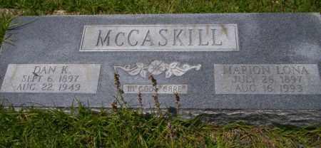 MCCASKILL, DAN K - Union County, Arkansas | DAN K MCCASKILL - Arkansas Gravestone Photos