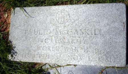 MCCASKILL (VETERAN WWII), PAUL D - Union County, Arkansas | PAUL D MCCASKILL (VETERAN WWII) - Arkansas Gravestone Photos