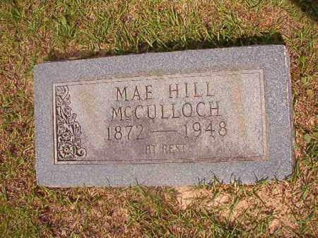 HILL MCCULLOCH, MAE - Union County, Arkansas | MAE HILL MCCULLOCH - Arkansas Gravestone Photos