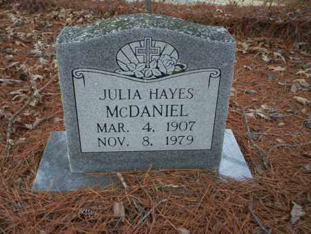 HAYES MCDANIEL, JULIA - Union County, Arkansas | JULIA HAYES MCDANIEL - Arkansas Gravestone Photos