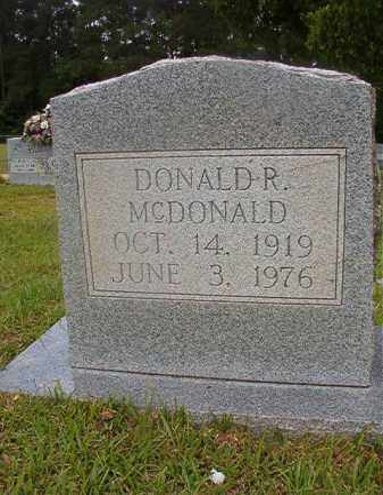 MCDONALD, DONALD R - Union County, Arkansas | DONALD R MCDONALD - Arkansas Gravestone Photos