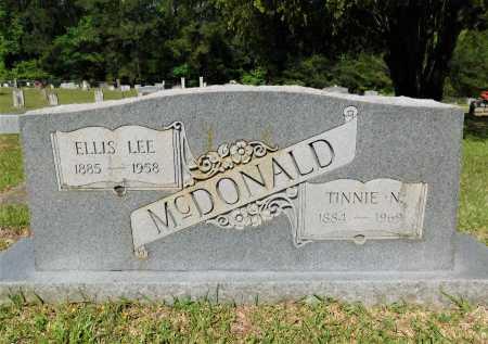 MCDONALD, TINNIE N - Union County, Arkansas | TINNIE N MCDONALD - Arkansas Gravestone Photos
