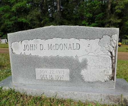 MCDONALD, JOHN D - Union County, Arkansas | JOHN D MCDONALD - Arkansas Gravestone Photos
