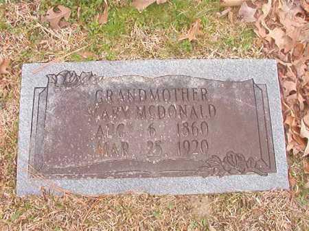 MCDONALD, MARY - Union County, Arkansas | MARY MCDONALD - Arkansas Gravestone Photos