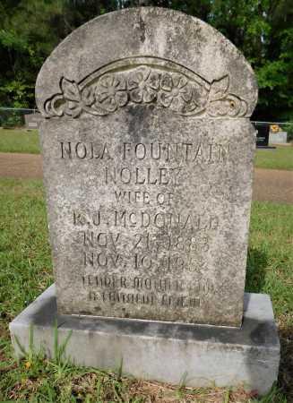 NOLLEY MCDONALD, NOLA FOUNTAIN - Union County, Arkansas   NOLA FOUNTAIN NOLLEY MCDONALD - Arkansas Gravestone Photos