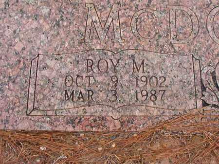 MCDONALD, ROY M - Union County, Arkansas | ROY M MCDONALD - Arkansas Gravestone Photos