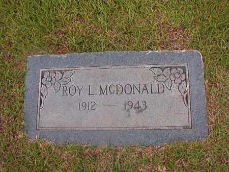 MCDONALD, ROY L - Union County, Arkansas | ROY L MCDONALD - Arkansas Gravestone Photos