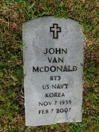 MCDONALD (VETERAN KOR), JOHN VAN - Union County, Arkansas   JOHN VAN MCDONALD (VETERAN KOR) - Arkansas Gravestone Photos