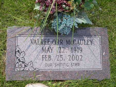 ORR MCGAULEY, VALREE - Union County, Arkansas | VALREE ORR MCGAULEY - Arkansas Gravestone Photos