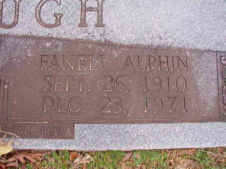 ALPHIN MCGOUGH, FANELL - Union County, Arkansas | FANELL ALPHIN MCGOUGH - Arkansas Gravestone Photos