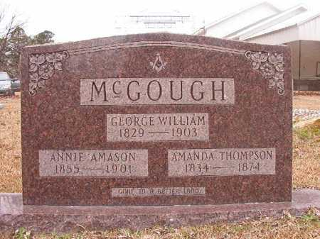 THOMPSON MCGOUGH, AMANDA - Union County, Arkansas | AMANDA THOMPSON MCGOUGH - Arkansas Gravestone Photos