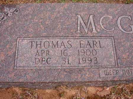 MCGOUGH, THOMAS EARL - Union County, Arkansas | THOMAS EARL MCGOUGH - Arkansas Gravestone Photos