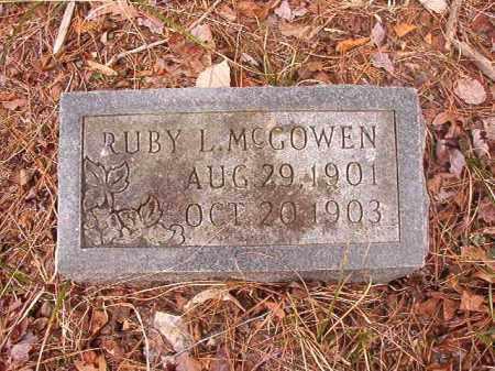 MCGOWEN, RUBY L - Union County, Arkansas   RUBY L MCGOWEN - Arkansas Gravestone Photos