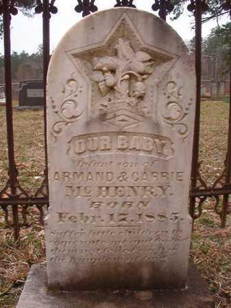 MCHENRY, INFANT SON - Union County, Arkansas | INFANT SON MCHENRY - Arkansas Gravestone Photos