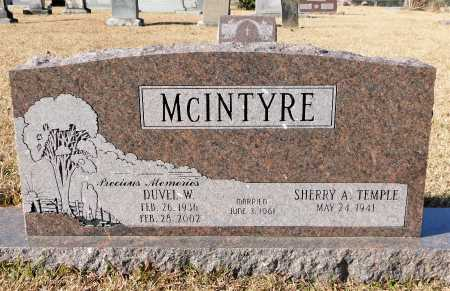 MCINTYRE, DUVEL W - Union County, Arkansas   DUVEL W MCINTYRE - Arkansas Gravestone Photos