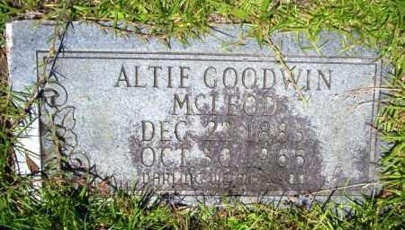 GOODWIN MCLEOD, ALTIE - Union County, Arkansas | ALTIE GOODWIN MCLEOD - Arkansas Gravestone Photos