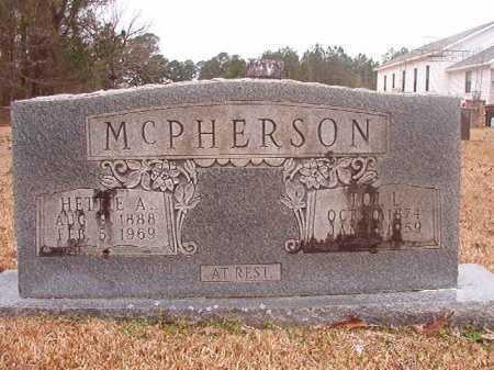 MCPHERSON, HETTIE A - Union County, Arkansas | HETTIE A MCPHERSON - Arkansas Gravestone Photos
