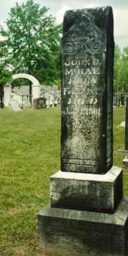 MCRAE, JOHN B - Union County, Arkansas | JOHN B MCRAE - Arkansas Gravestone Photos