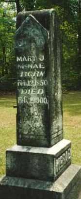 MCRAE, MARY J. - Union County, Arkansas | MARY J. MCRAE - Arkansas Gravestone Photos