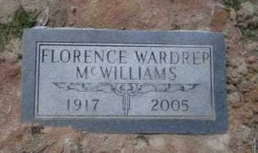 MCWILLIAMS, FLORENCE - Union County, Arkansas | FLORENCE MCWILLIAMS - Arkansas Gravestone Photos