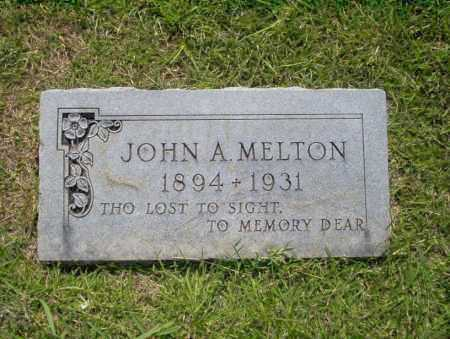MELTON, JOHN A - Union County, Arkansas | JOHN A MELTON - Arkansas Gravestone Photos